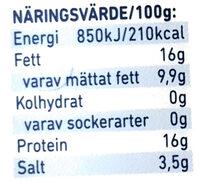 Räk & Kräftost - Informations nutritionnelles - sv