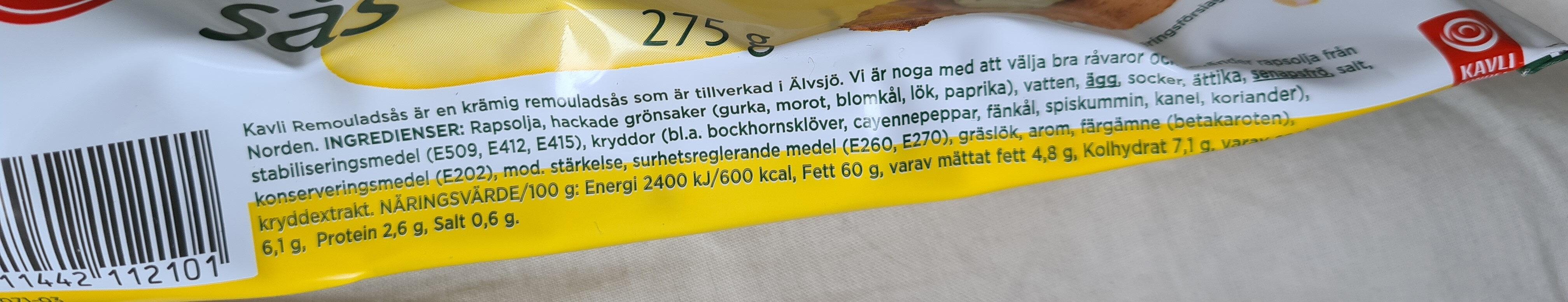 Remouladsås - Ingredienti - sv