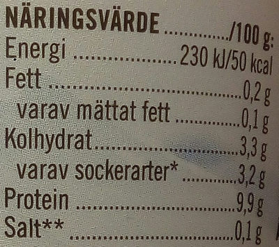 Skyr Mango - Nutrition facts - sv