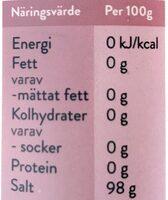 Finkornigt Salt Himalaya - Informations nutritionnelles - sv