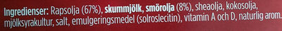 Smör och rapsolja - Ingrédients - sv