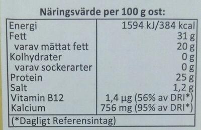 Munkens svarta - Informations nutritionnelles - sv