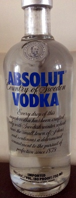 Absolut vodka - Produkt
