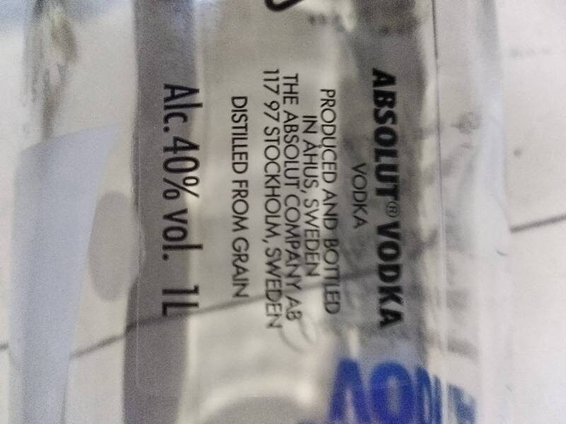 Absolut Vodka - Ingredients