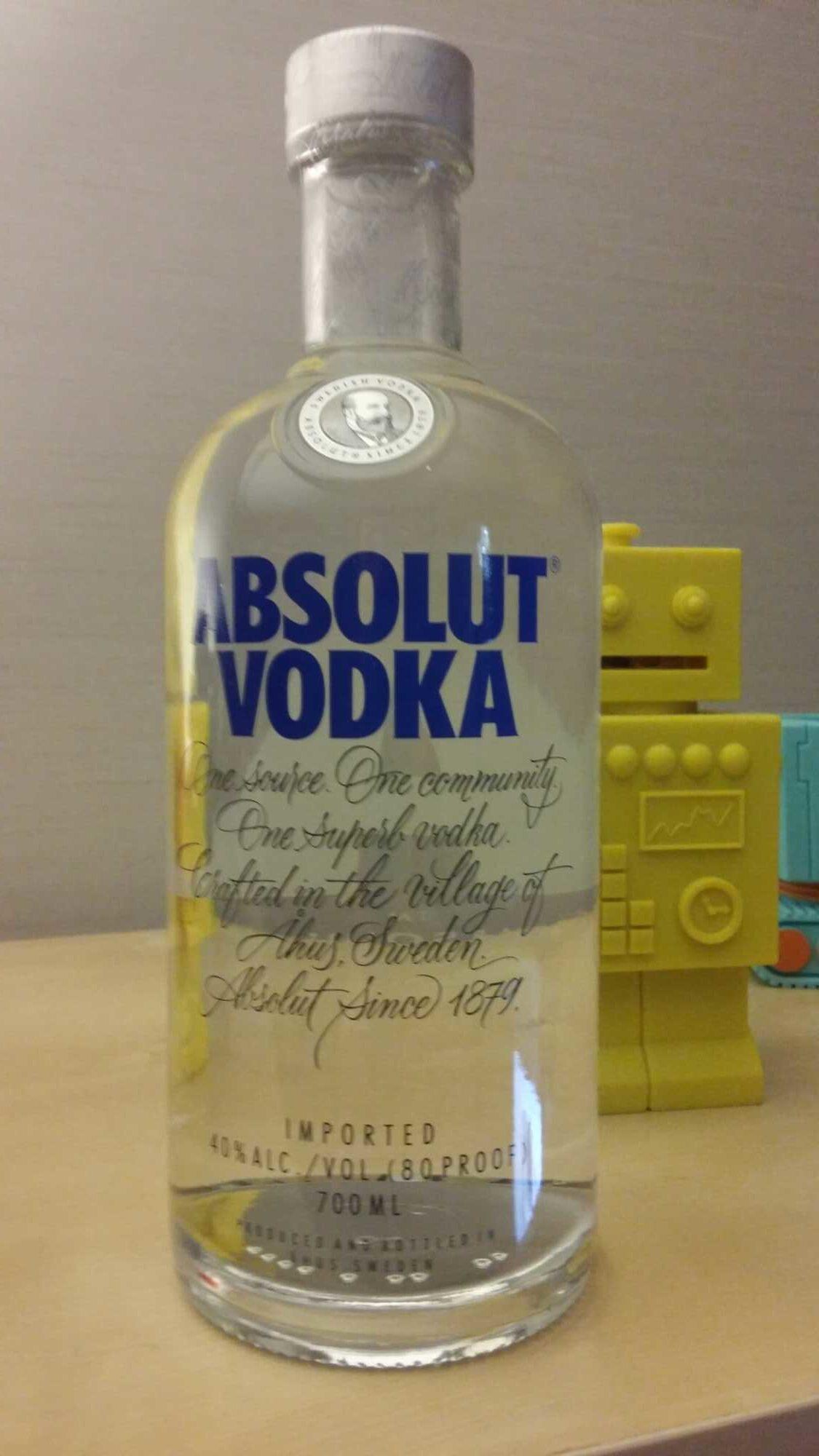 Absolut Wodka - Ingrediënten - fr