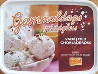 Triumf Glass Gammaldags gräddglass - Vanilj med chokladkross - Product - sv