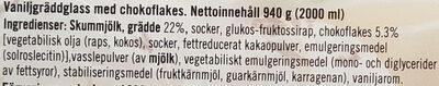 Triumf Glass Gammaldags gräddglass - Vanilj med chokladkross - Ingrediënten - sv