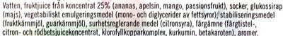 Gammaldags Skruven - Ananas, apelsin, mango & passionsfrukt - Ingrédients - sv