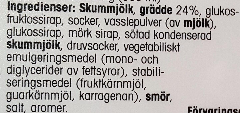 Gräddglass - Salt karamell - Ingrédients - sv