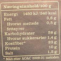 Leksands Surdeig - Informations nutritionnelles - en