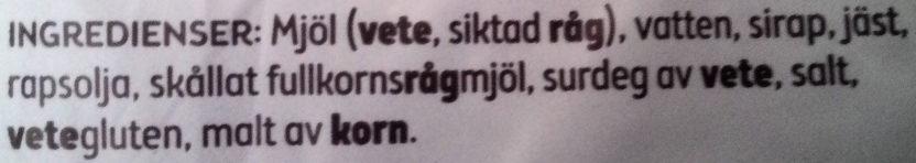 Skogaholmslimpa - Ingredients