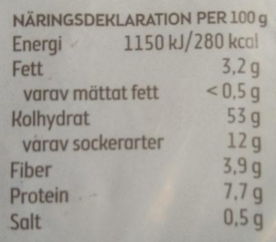 Carlssons Fyrkant - Voedingswaarden - sv