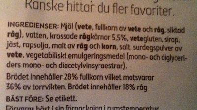 Skogaholm Fiberrost - Ingredients