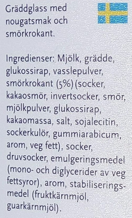 SIA Glass Knäck - Ingredients