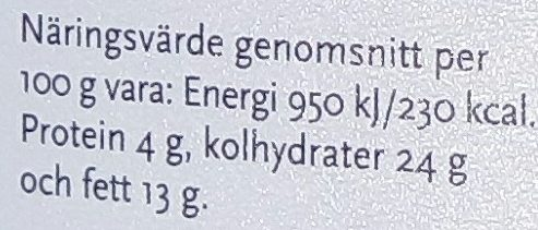 SIA Glass Knäck - Informations nutritionnelles - sv