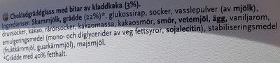 SIA Glass Kladdkaka - Ingredients - sv