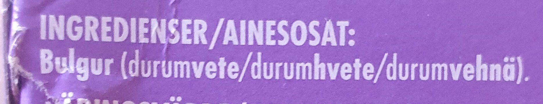 Bulgur vehnää - Ingrédients - fi