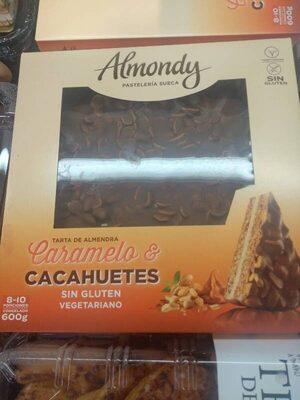 Tarta de caramelo y cacahuetes