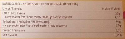Marabou Mjölkchoklad Kladdkaka - Valori nutrizionali - sv
