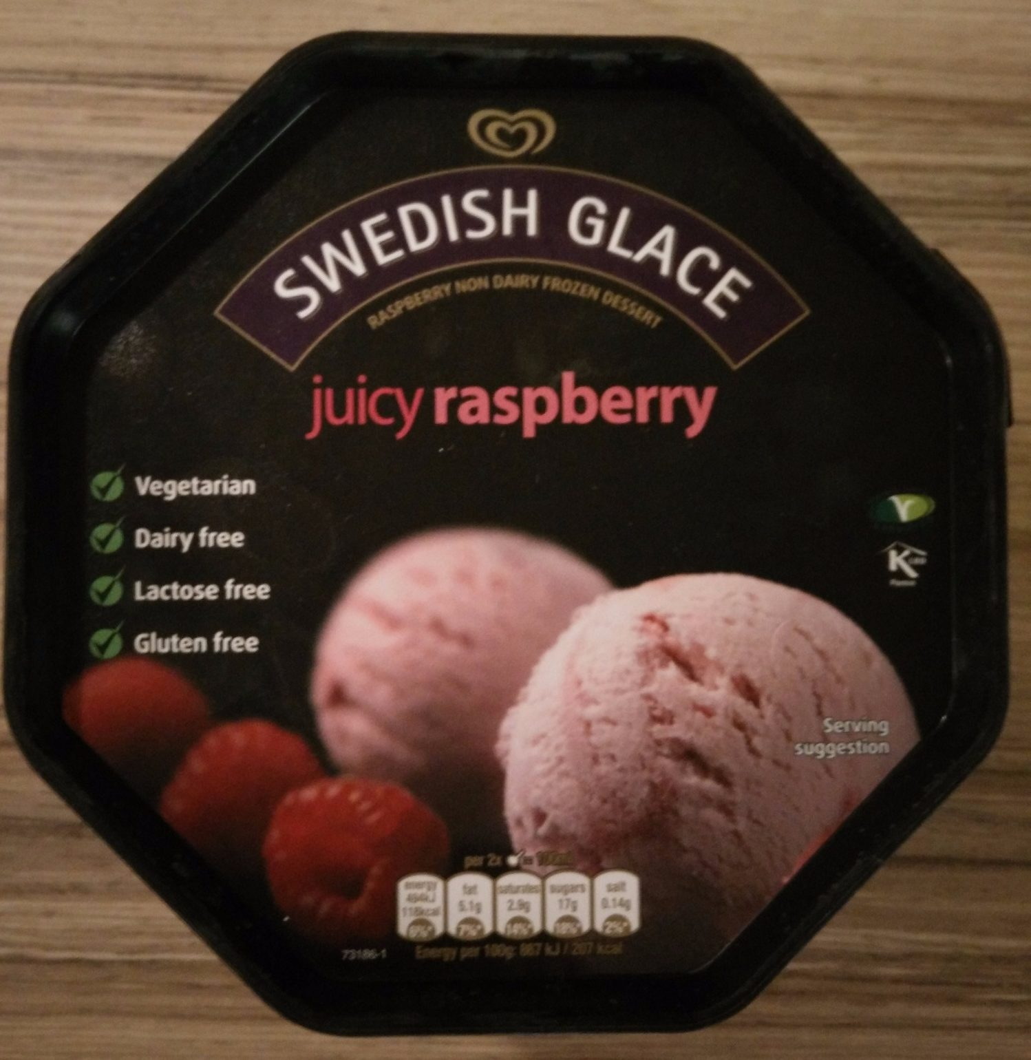 Swedish Glace Raspberry Non Dairy Frozen Dessert - Product