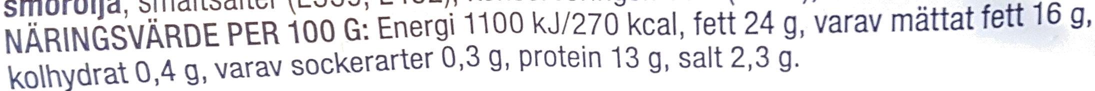 Mild Ädelost - Informations nutritionnelles - sv
