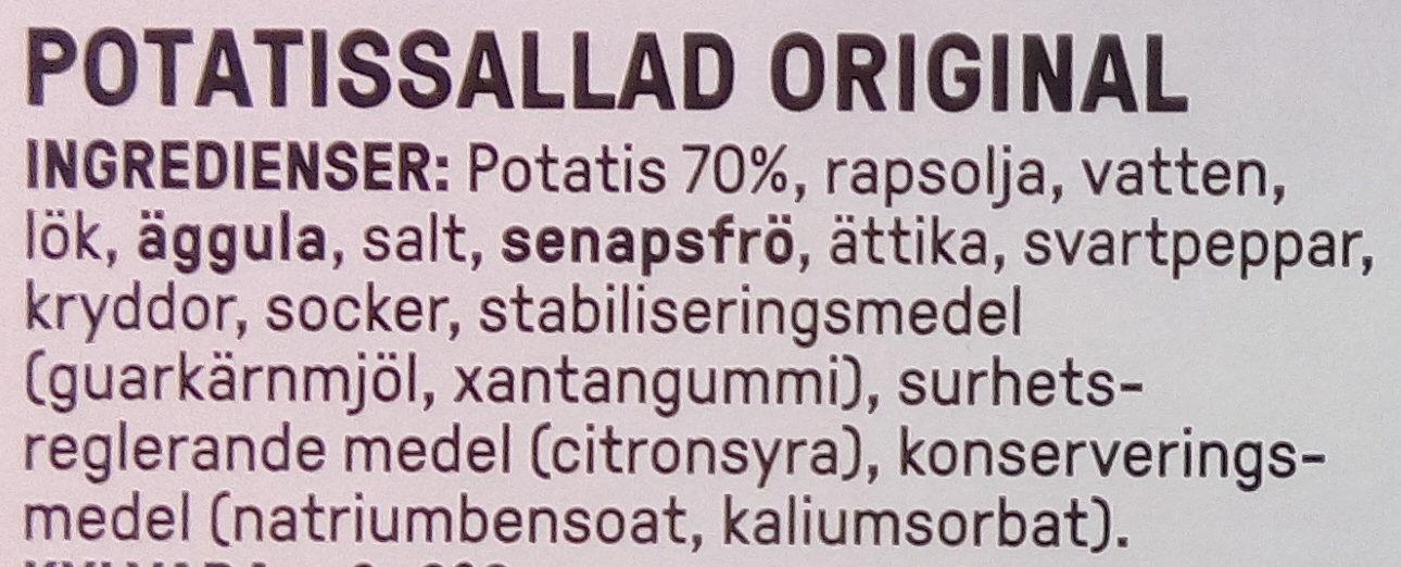 Rydbergs Potatissallad Original - Ingredients