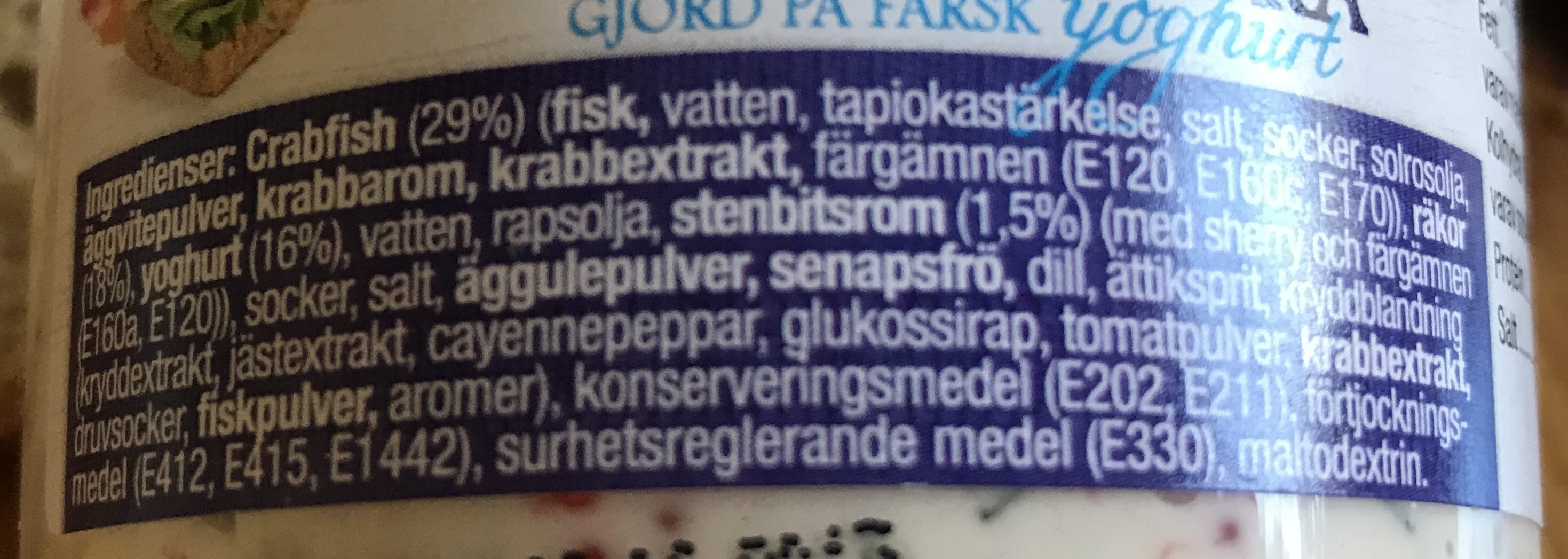 Skagenröra Yoghurt örneborgs - Ingrédients