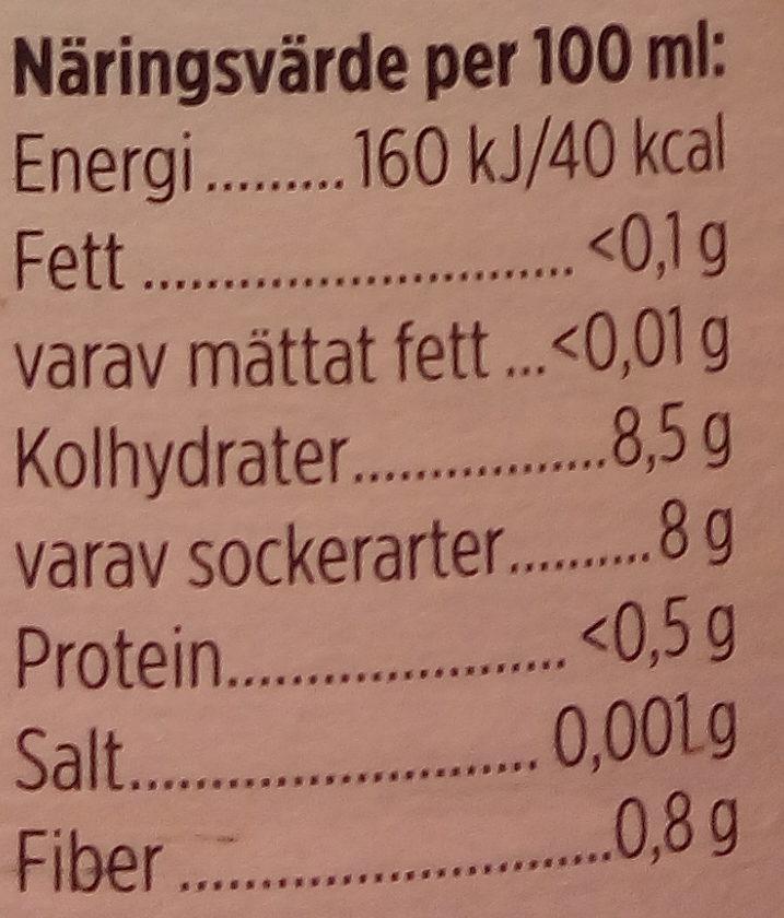 Brämhults Jordgubbar Rabarber - Informations nutritionnelles - sv
