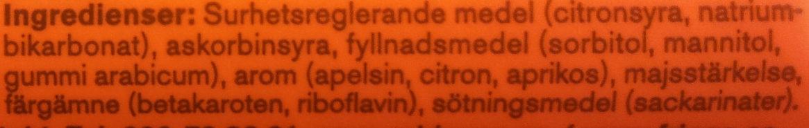 C-vitamin apelsin - Ingrédients - sv