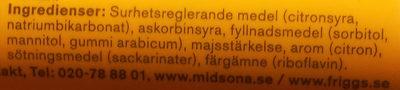 C-vitamin citron - Ingrédients - sv