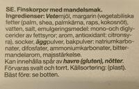 Mandel Finskorpor - Ingrédients - sv