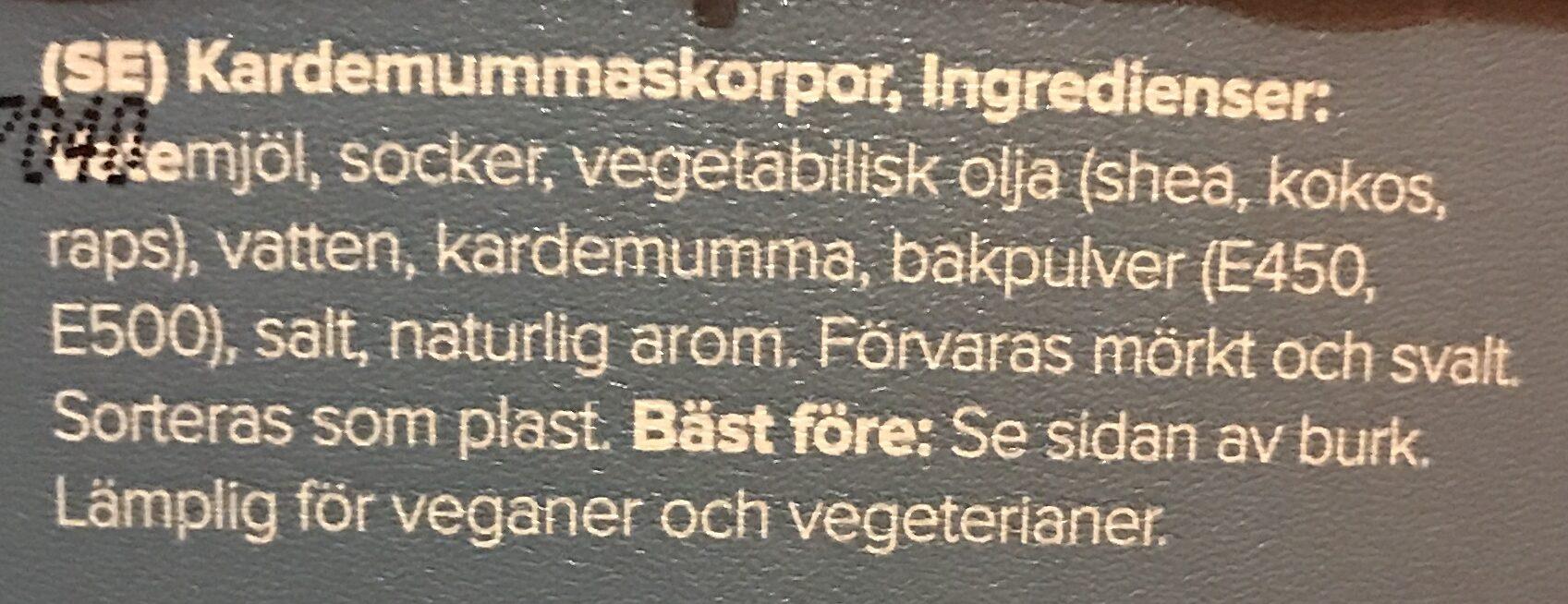 Kardemumma skorpor - Inhaltsstoffe - sv