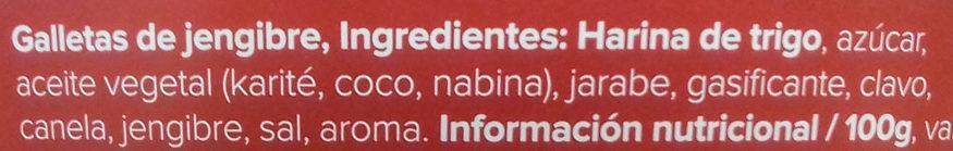 Galletas - Ingredients - es