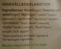 Fruktmüsli - Ingredients