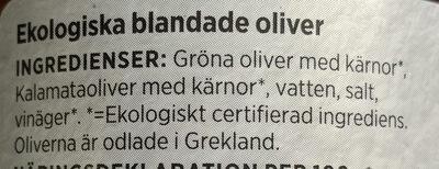 Ekologiska Blandade Oliver - Ingrédients