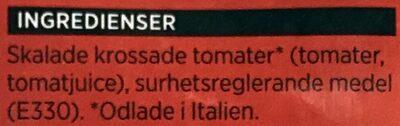 ICA Krossade tomater - Ingrédients - sv