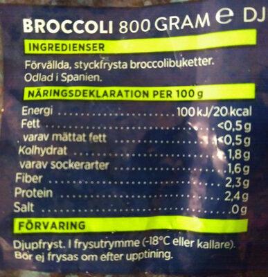 Broccoli - Ingrédients - sv