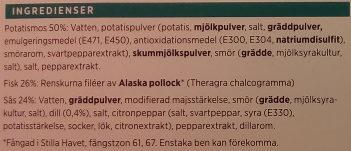 ICA Fiskgratäng Dillsås - Ingredients