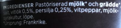 Färskost Vitlök / örter - Ingrediënten