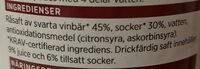 Ekologisk Svartvinbärsaft - Ingredients