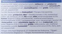 ICA Fiskgratäng Skaldjurssås - Ingredients - sv
