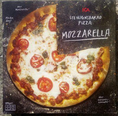 ICA Stenugnsbakad pizza Mozzarella - Produit