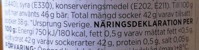 Hjortron sylt - Informations nutritionnelles - sv