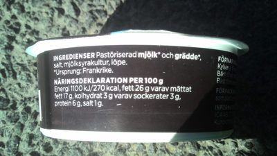 ICA Färskost naturell - Ingredients