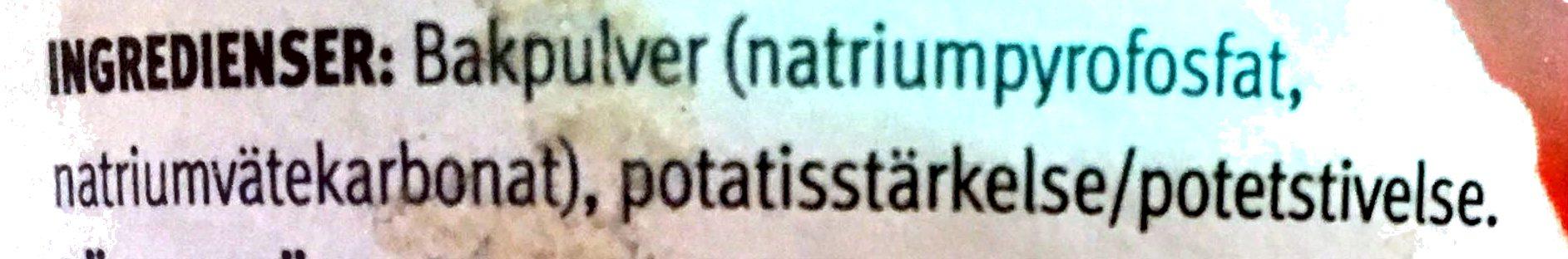 Bakpulver - Ingrédients - sv