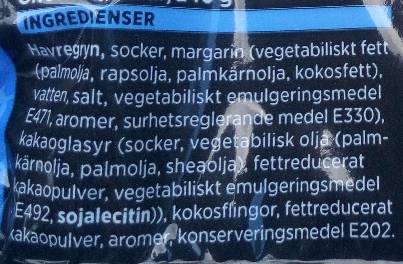 Choklad Bollar - Ingrédients - sv