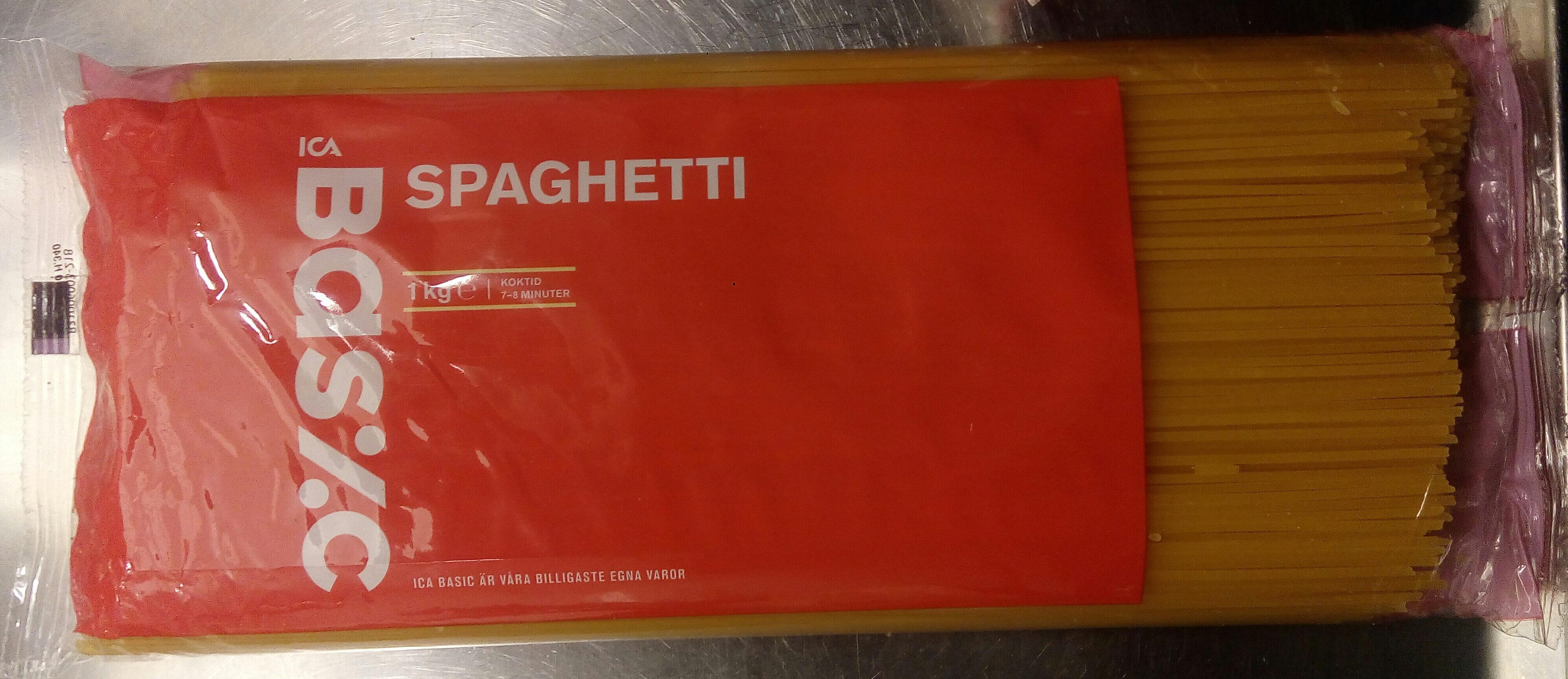 ICA Basic Spaghetti - Produit - sv