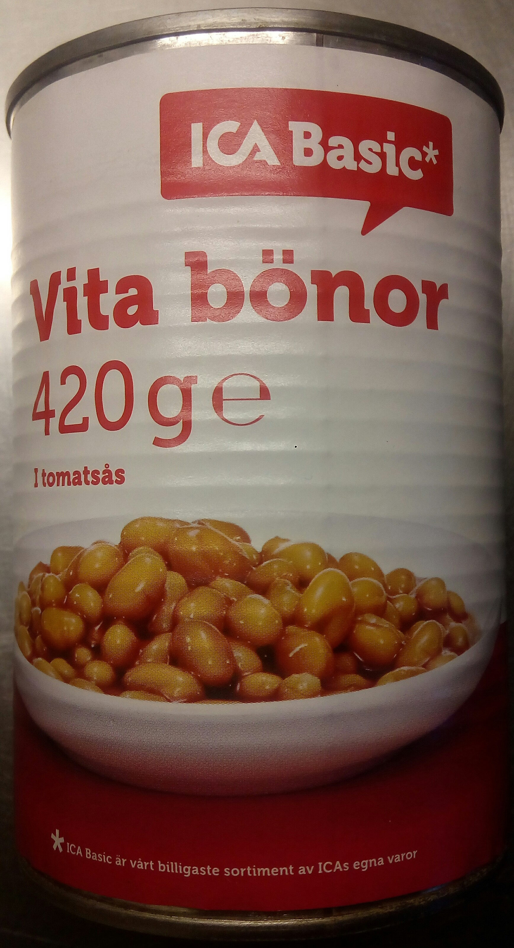 vita bönor i tomatsås kolhydrater
