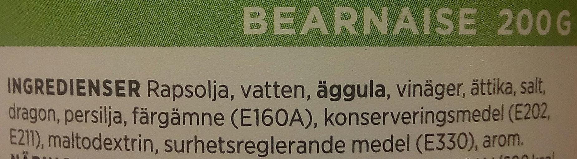 ICA Bearnaise - Ingrédients - sv