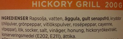 ICA Hickory grill - Ingredients